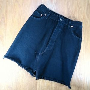 [Levi's] 501 Upcycled Black Denim Skirt Size 0